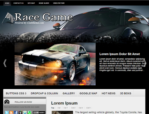 Race Game Blogger Theme