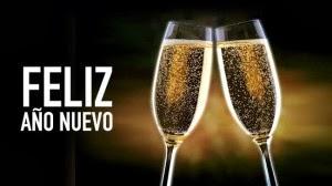 Imagen de dos copas para celebra Año Nuevo
