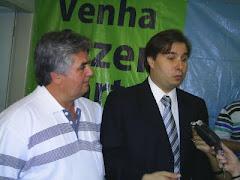 Benone Leão e Rodrigo Maia presidente da câmera dos deputados