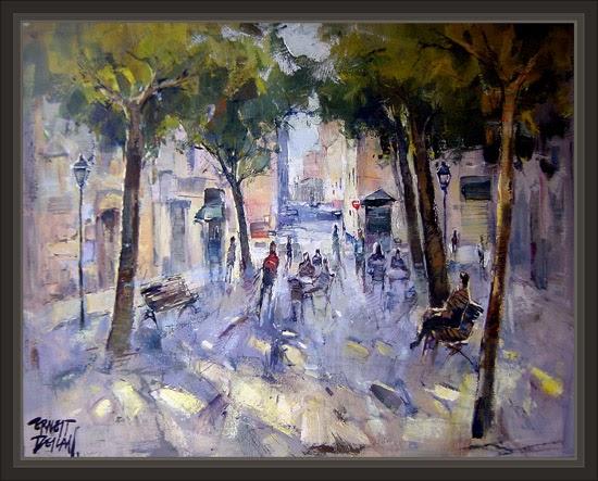 Cuadros ernest descals pinturas mollerussa lleida lerida paisajes pinturas cuadros pintor - Pintores en lleida ...