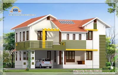 Contemporary Villa design - 226 Sq m (2430 Sq. Ft) - December 2011