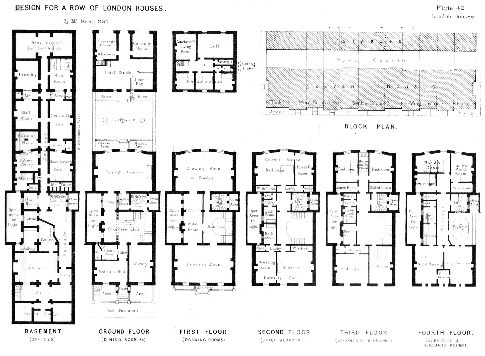 Victorian London Townhouse Floor Plan