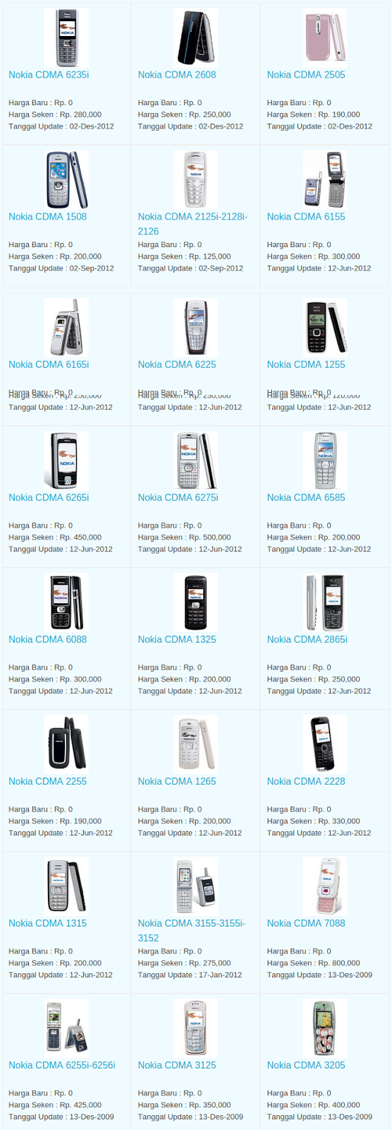Daftar Harga Hp Nokia CDMA Desember 2015