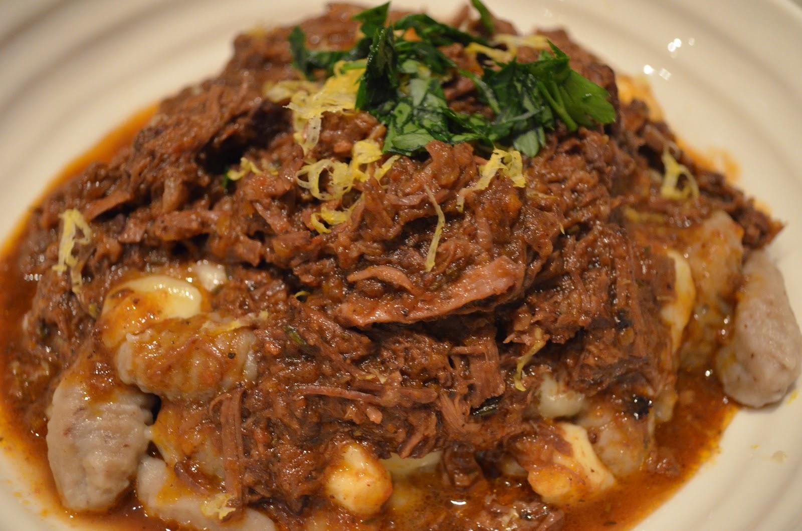 Foodie Funday Sunday: Gnocchi Poutine with Braised Short Rib Ragu