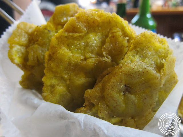 image of plantains tostones at La Isla in Hoboken, NJ