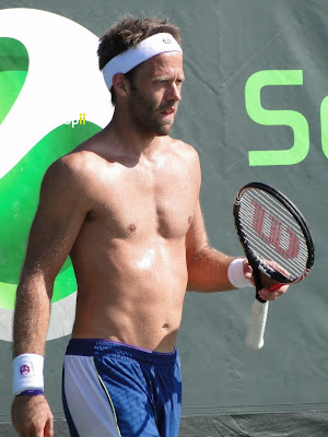 Robert Lindstedt Shirtless at Sony Ericsson Open 2011