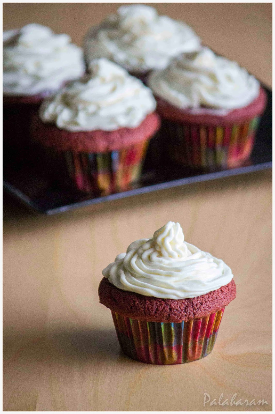 Palaharam: Red Velvet Cupcakes with Cream Cheese Frosting