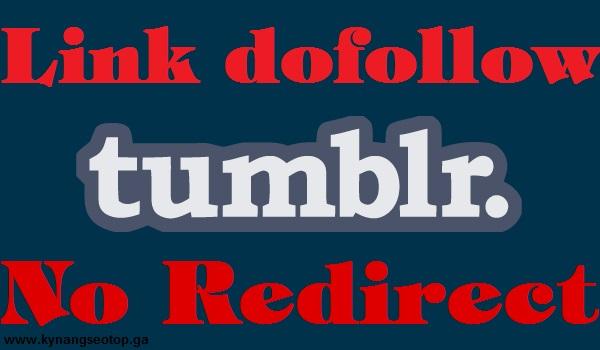 Cách tạo backlink dofollow không redirect trên Tumblr