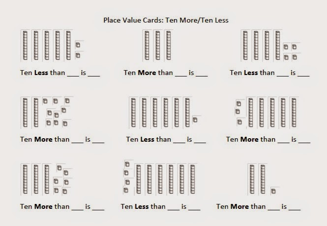 Place Value Worksheets place value worksheets for 1st graders : Mrs. T's First Grade Class: Place Value Games: More or Less