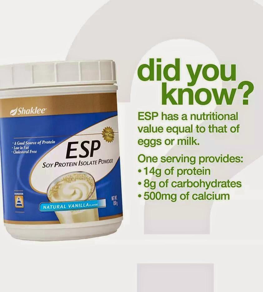 ESP Shaklee, Makanan Tambahan Protein, Pengedar Shaklee Pulau Pinang, Pegedar Shaklee Pengkalan Hulu, Pengedar Shaklee Penanti