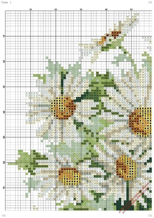 Схемы вышивки крестом ромашки все 89
