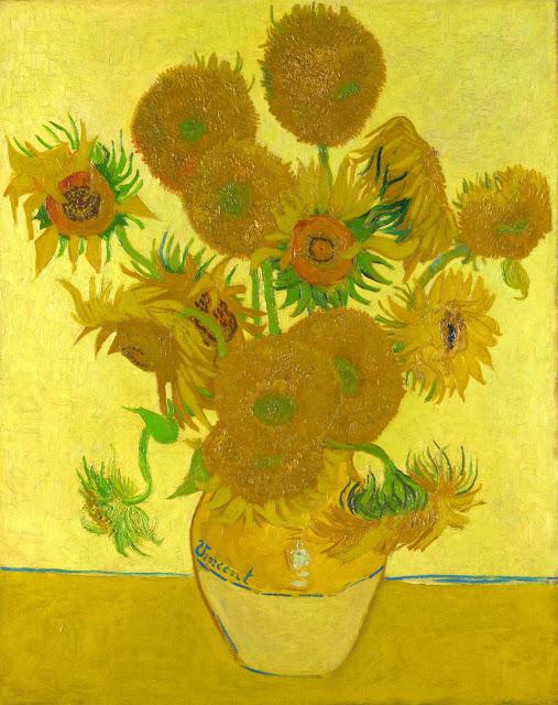 Yi Wei Lim, yiweilim, vincent van gogh, van gogh, van gogh sunflowers, sunflowers, painting, impressionism, impressionist