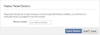 How to stop Facebook name new device