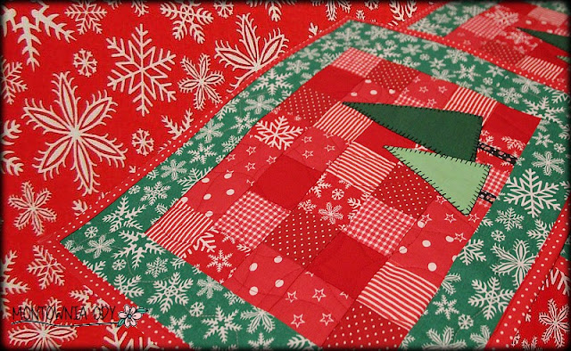 podkładki na Boże Narodzeniez choinką