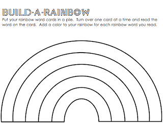 Challenger image within fruit loop rainbow printable template