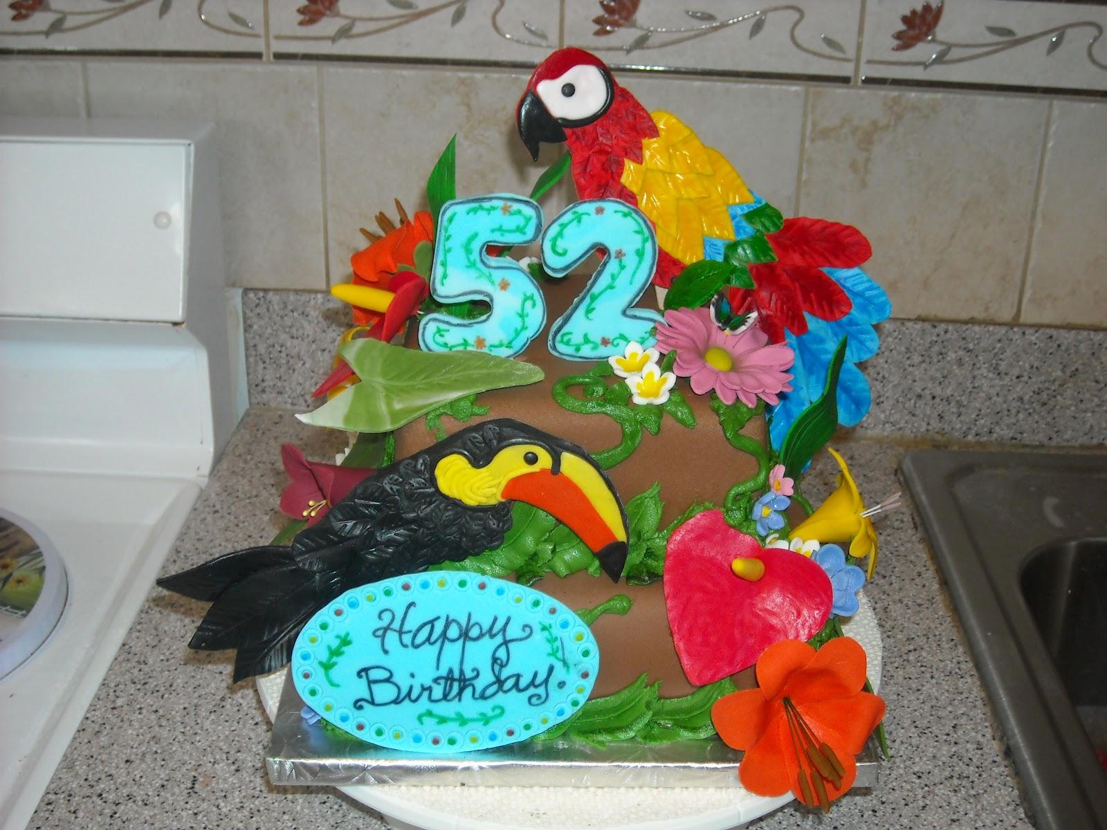 parrot birthday cake