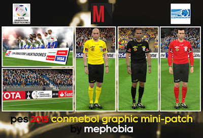 PES 2015 CONMEBOL Graphic Mini-Patch by mephobia
