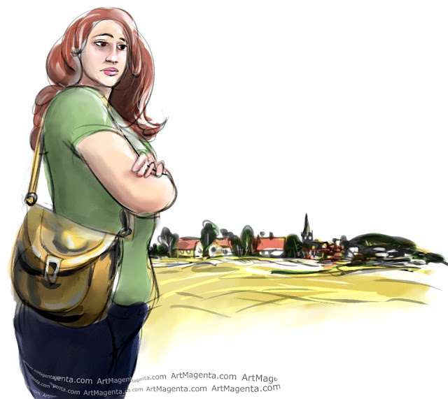 The cartographer from Kolding is a doodle by Artmagenta