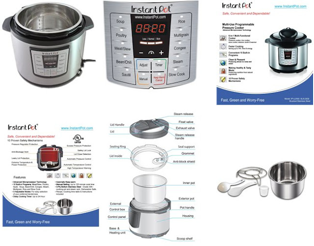 Instant Pot IP LUX60 6in1 Programmable Pressure Cooker lowes price