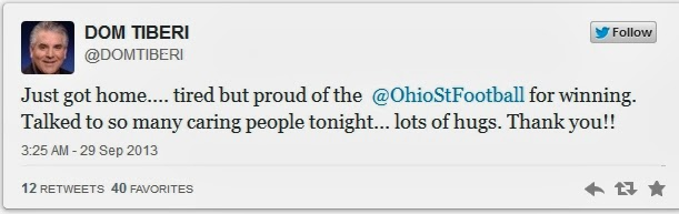 Tiberi later shared his gratitude via Twitter.