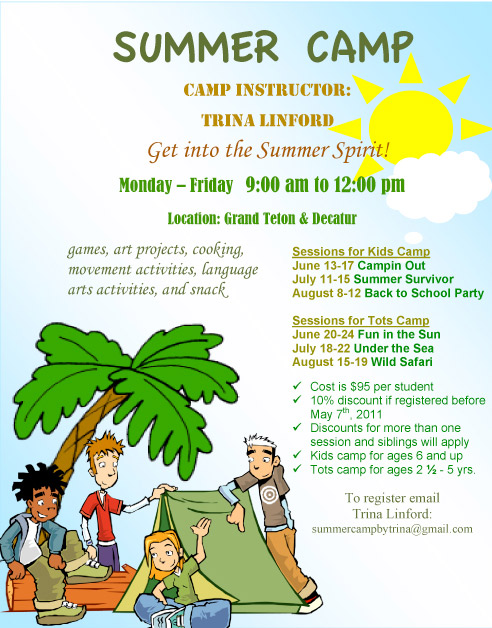 summer camp flyer templatepincloutcom templates and resume