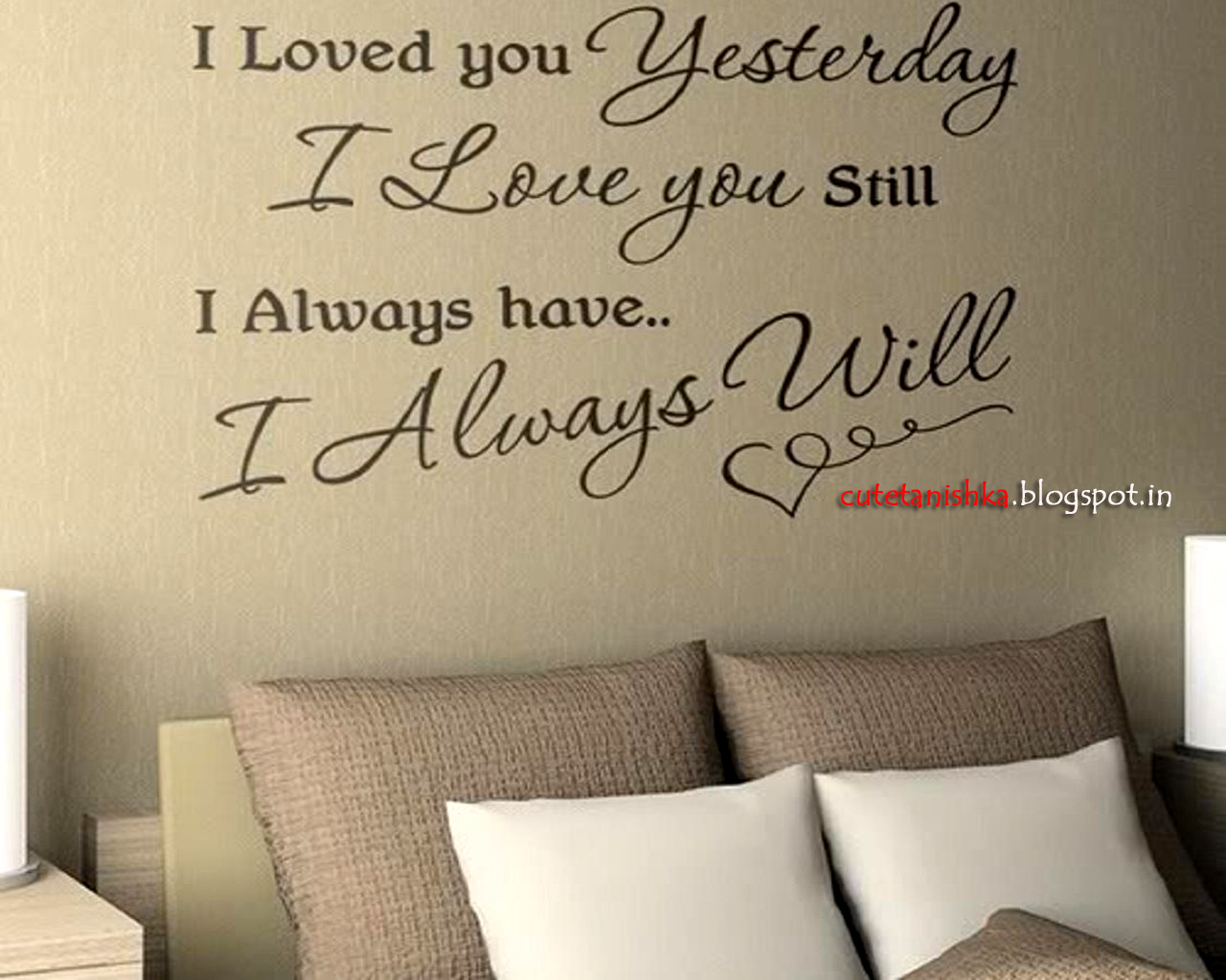 Will Always Love You Romantic Quote Wallpaper For Beloved