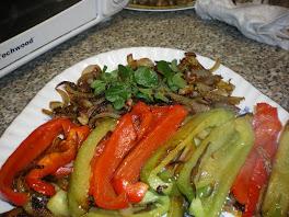 une bonne salade de poivrons grillés