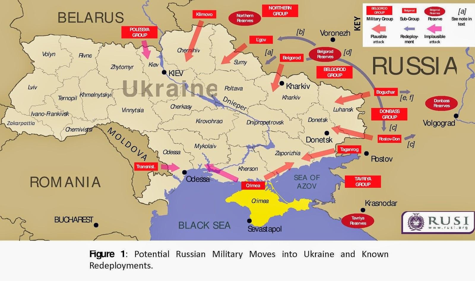 Posible intervención rusa en Ucrania - Blog Geografía Política