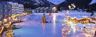 Keystone lake, Colorado, ice skate