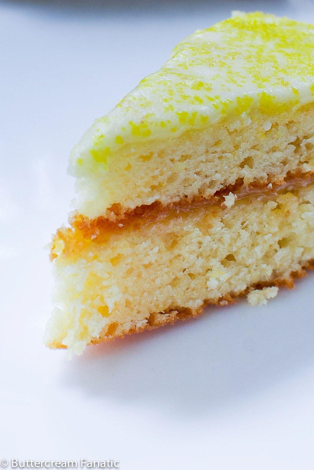 Buttercream Fanatic: Lemon Layer Cake with Lemon Glaze and Lemon Curd