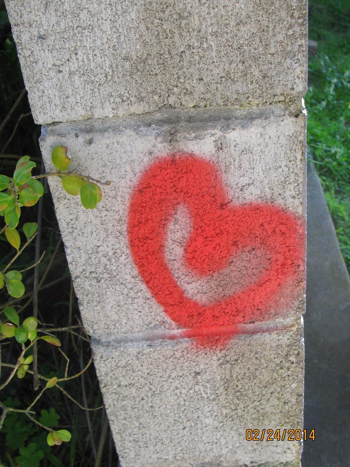 16th Street Stairs- Heart Graffiti
