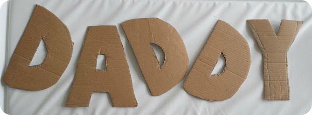 daddy bunting, fathers day craft, homemade toddler