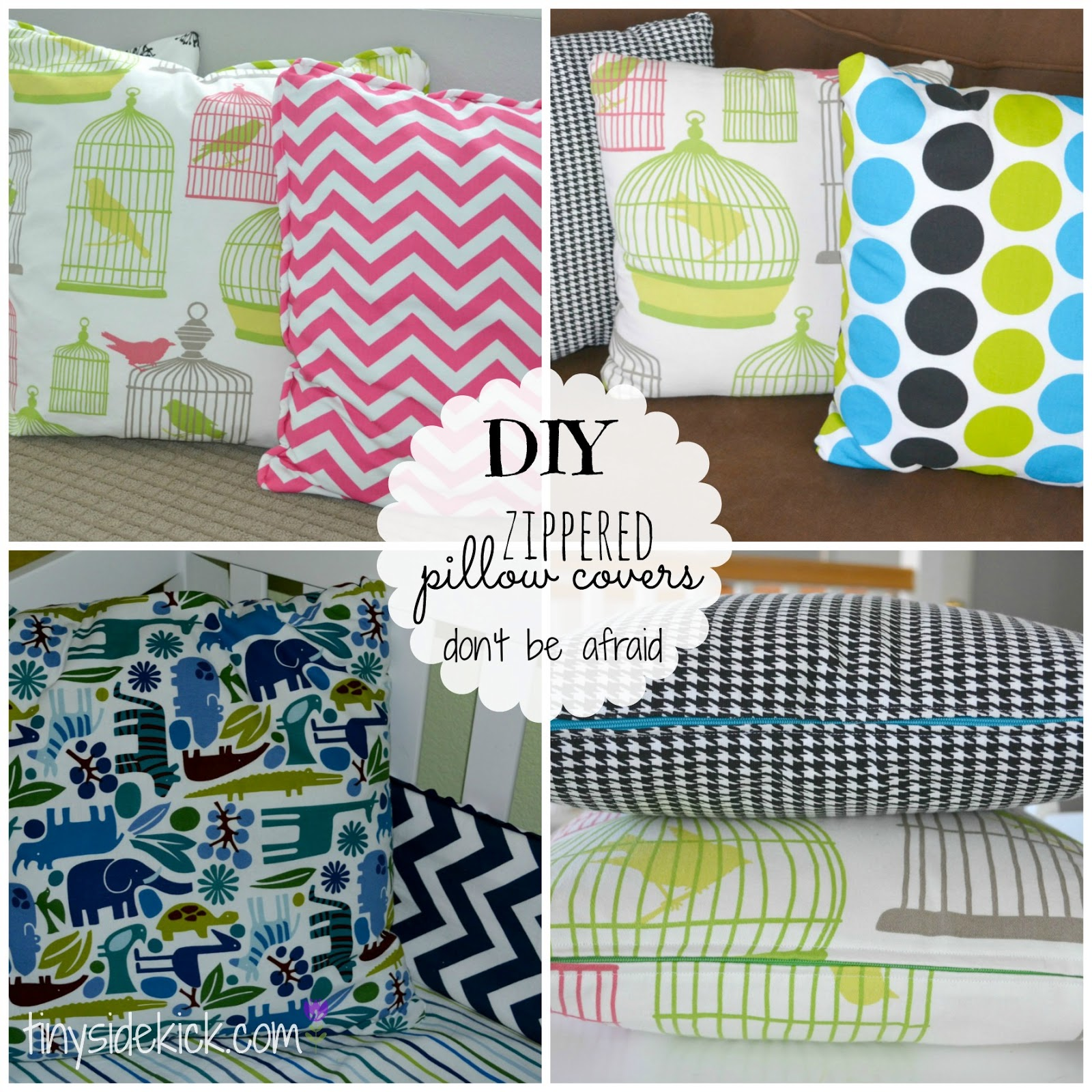 DIY Zippered Pillow Covers | Install a zipper | washable pillow covers
