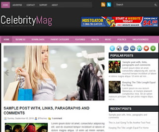 CelebrityMag Blogger Template