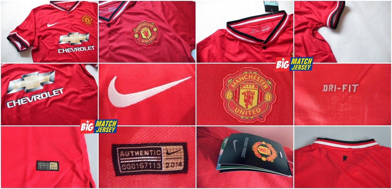 Detail Jersey Player Issue Manchester United Official Sponsor Chevrolet  Terbaru Musim 2014 - 2015