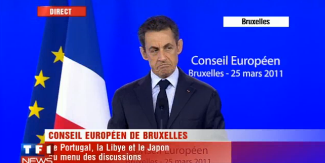 Un journaliste pose une colle à Nicolas Sarkozy