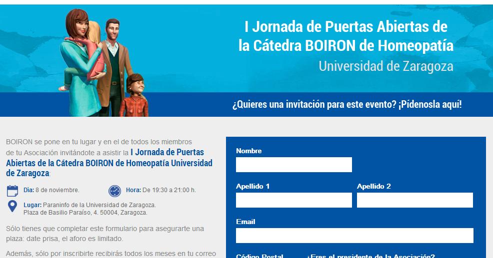 La homeopatía Boiron nos abre sus puertas ¡en la Universidad de Zaragoza!