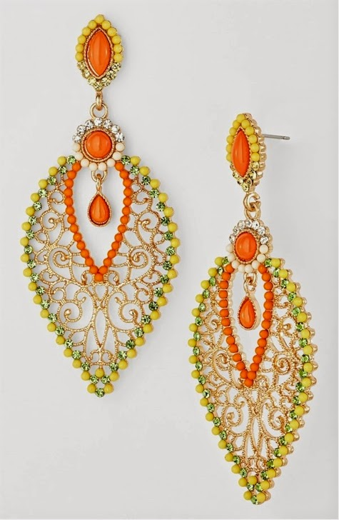 Nordstrom Has These Cara Couture Beaded Chandelier Earrings For 38 00 9 97 With Free Shipping And Returns 3 4 Drop 1 Width