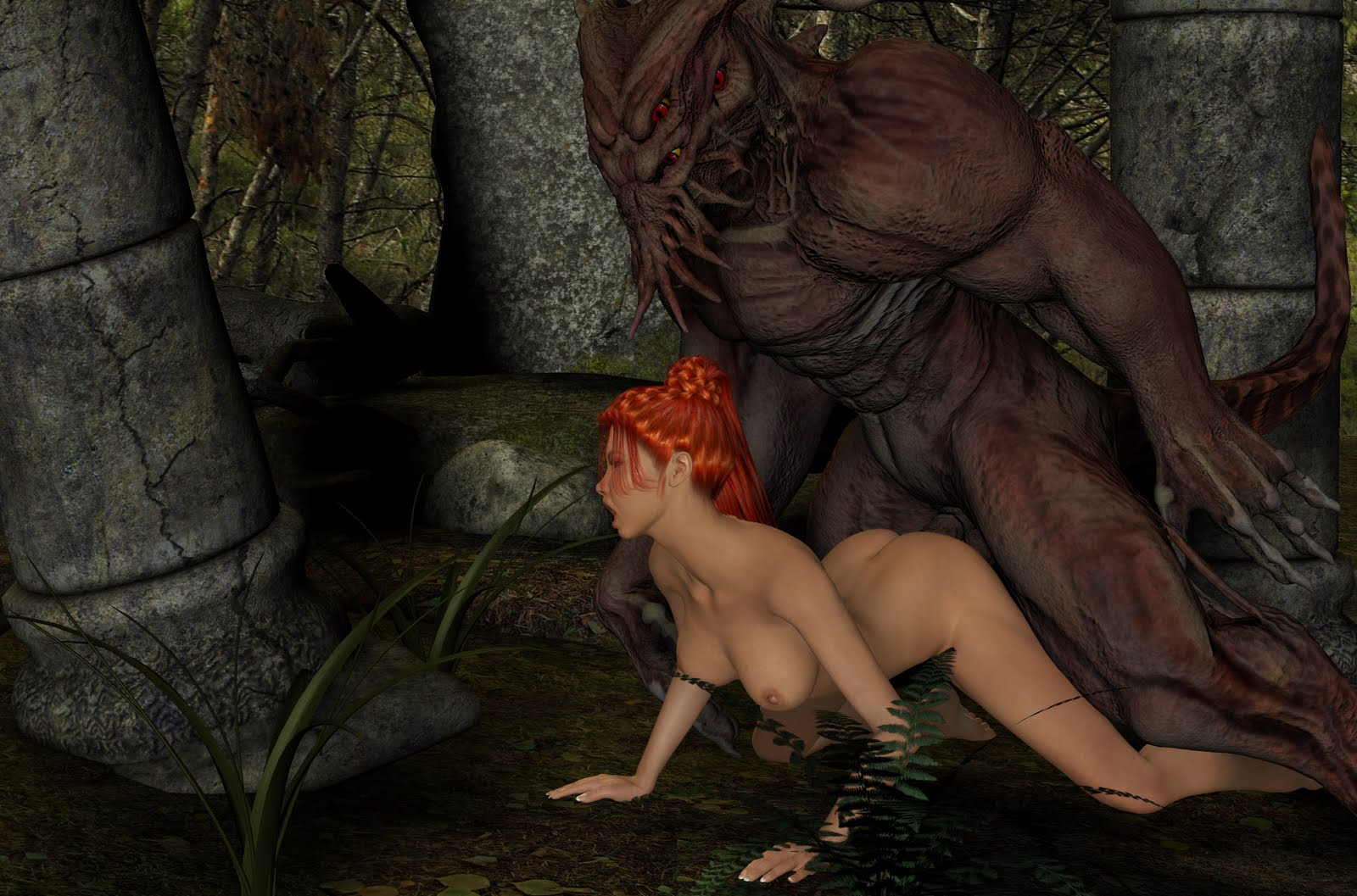 Three monsters abuse elf girl softcore online chick