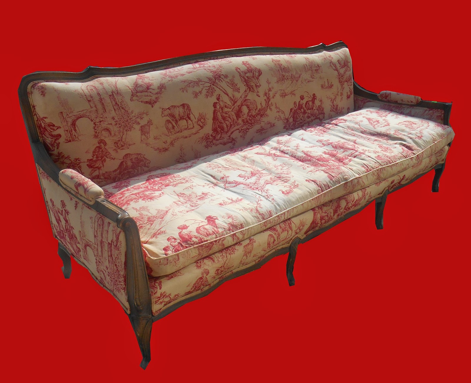 Uhuru Furniture Collectibles Vintage Sofa In Red