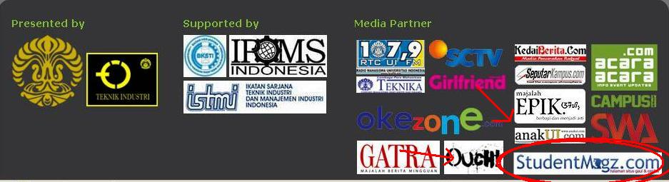 Media Partner Lomba Keilmuan Teknik Industri (LKTI) 2012 bersama Teknik Industri Universitas Indonesia