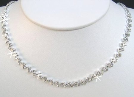 Crystal Necklace Set for Bridal Wedding Prom Pageant