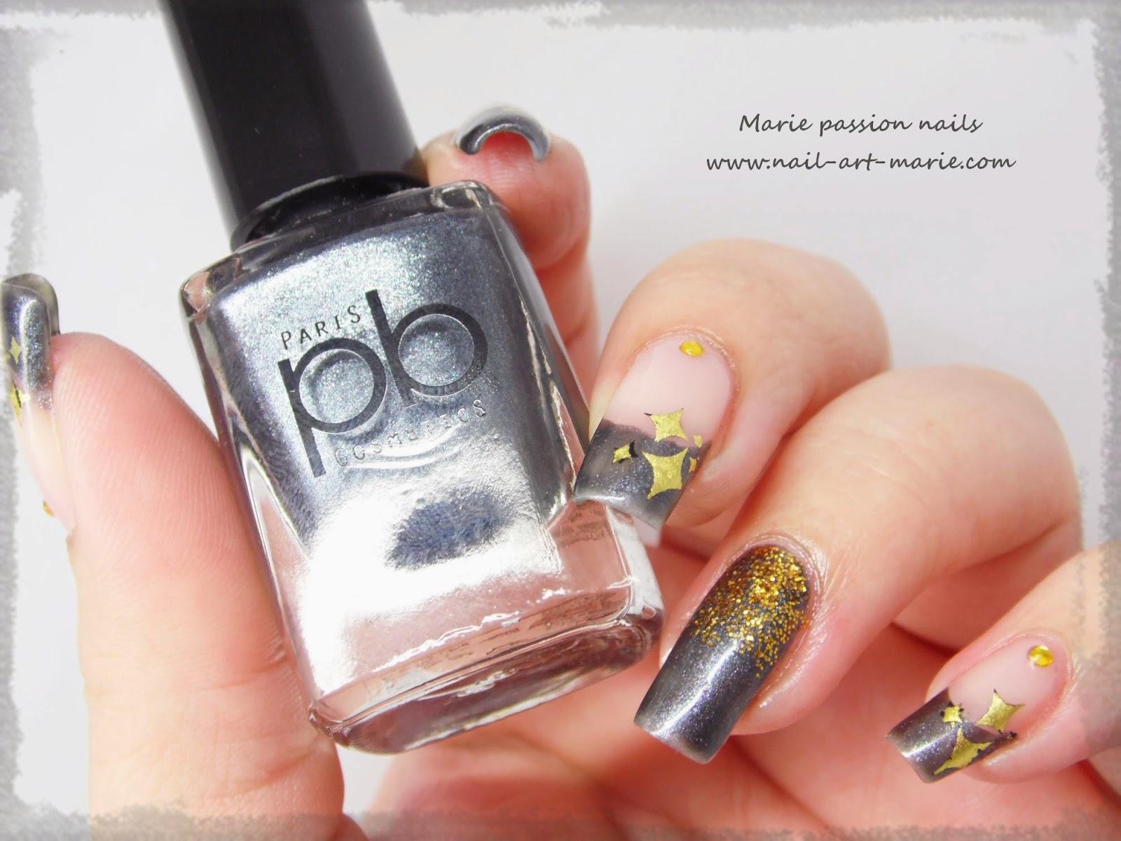 nail art stamping au foil7