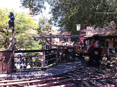 Big Thunder Mountain Railroad Disneyland Rancho Zocalo view