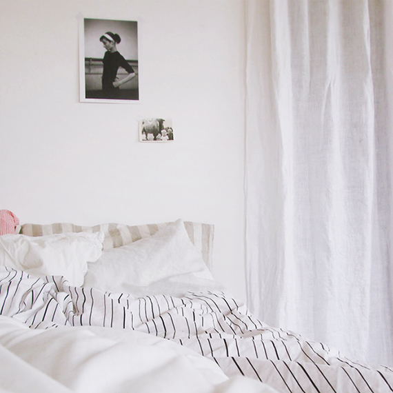 Crispy bed linen via Ikea Family Live