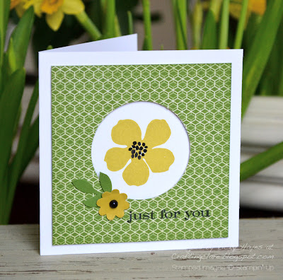 Card made with designer paper and Secret Garden from Stampin' Up