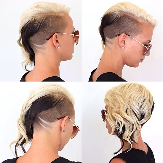 Stylish hair tattoos for girls