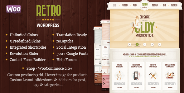 download Retro v3.9 - Premium Vintage WordPress Theme