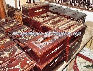 Tempat Tissue Kayu Jati