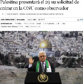 Palestina presentar el 29 su solicitud de entrar en la ONU como observador.